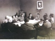 Enzo en réunion à Maranello en 1967