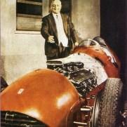 Enzo et la 375F1 en 1952