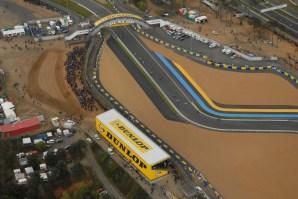 Passerelle et tribune Mans 2008