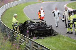 Honda NSX 2015 on fire