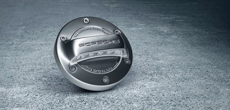 Porsche Macan Pack Sport Design bouchon trappe essence alu