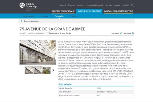 Peugeot quitte l'avenue de la Gde Armée