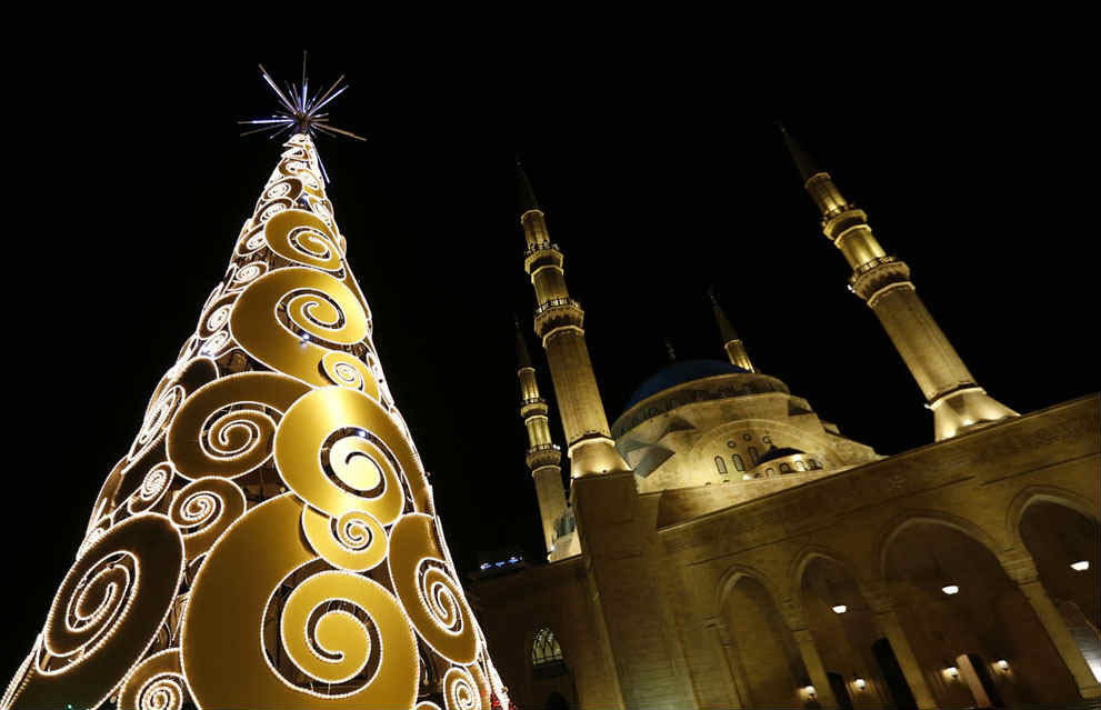 Beirut Martyrs Square Christmas Tree From 2009 Till 2014