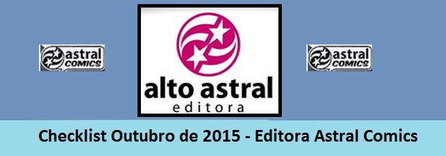 Checklist Outubro de 2015 – Editora Astral Comics