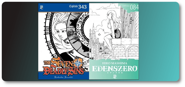 """""""Edens Zero 084"""" e """"The Seven Deadly Sins 343"""" já estão disponíveis"""