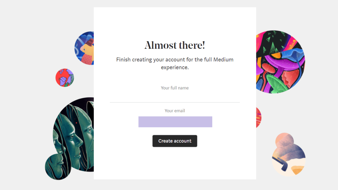 Medium Become a member by email5
