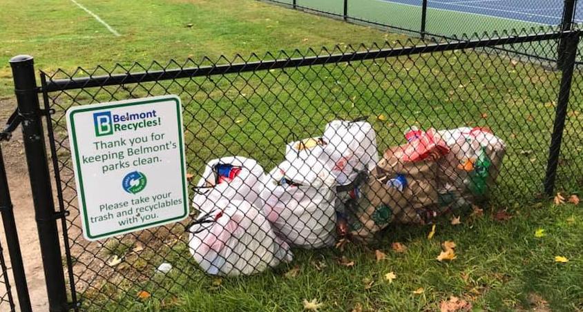 Trash Cans at Joeys Park