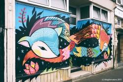 Street art dans le quartier sud de Bedminster.