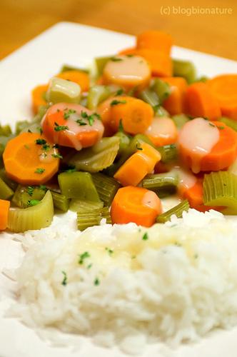 Carottes et c leri en sauce vegan le blog bio - Cuisiner le celeri branche ...