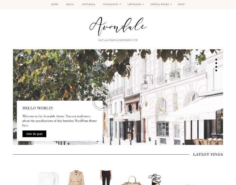 avondale wordpress genesis theme