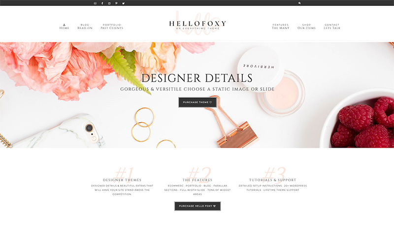 hello foxy wordpress theme
