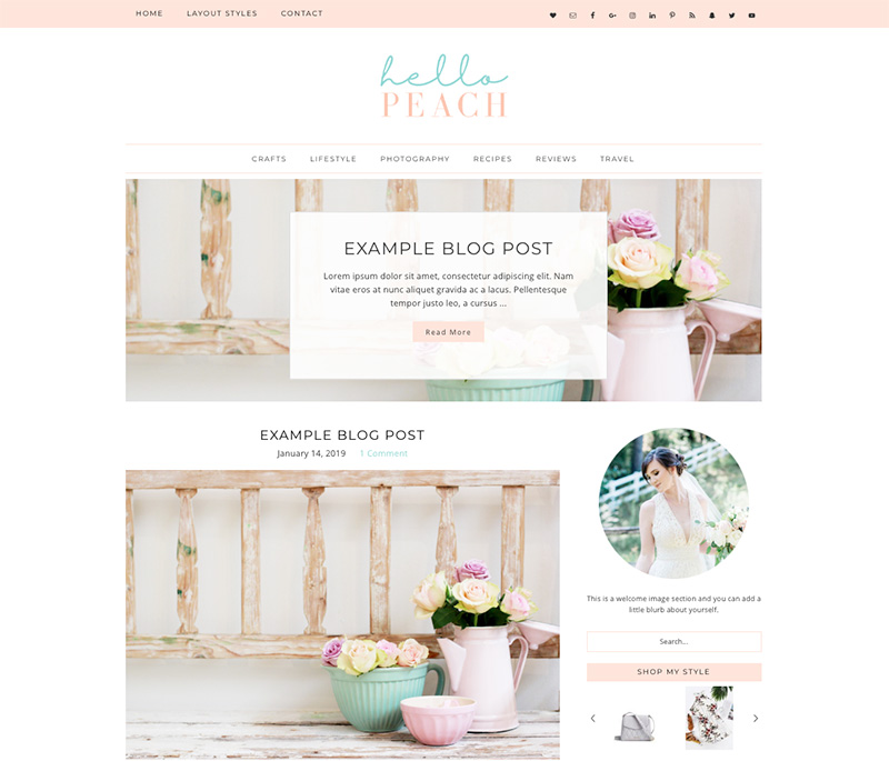 hello peach wordpress theme