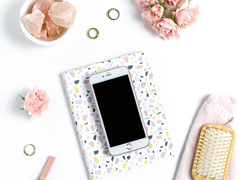 phone and a planner