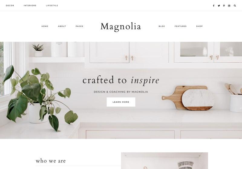 magnolia wordpress theme