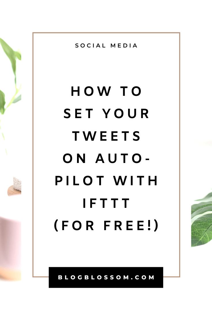 If you're looking to promote your blog posts & stay active on Twitter, here is a great way to set your tweets on autopilot for free so you can have more time to spend creating content and improving your business. | automate your tweets | automate your twitter | tweet schedule | social media | IFTTT | blog promotion | twitter automation | social media tools #blogging #bloggingtips #socialmedia #blogpromotion #twitter #twittermarketing #socialmediamarketing #socialmediatips #bloggingtools