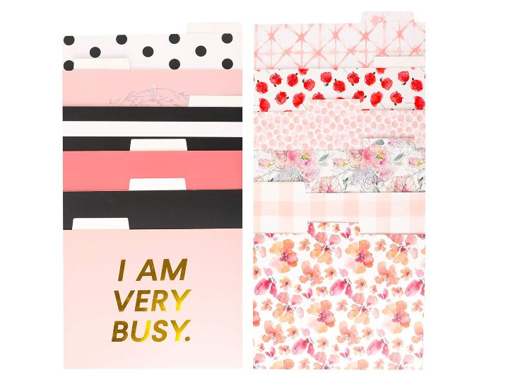 girl boss file folders