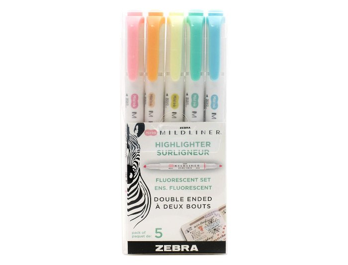 Zebra Mildliner Pastel Highlighters
