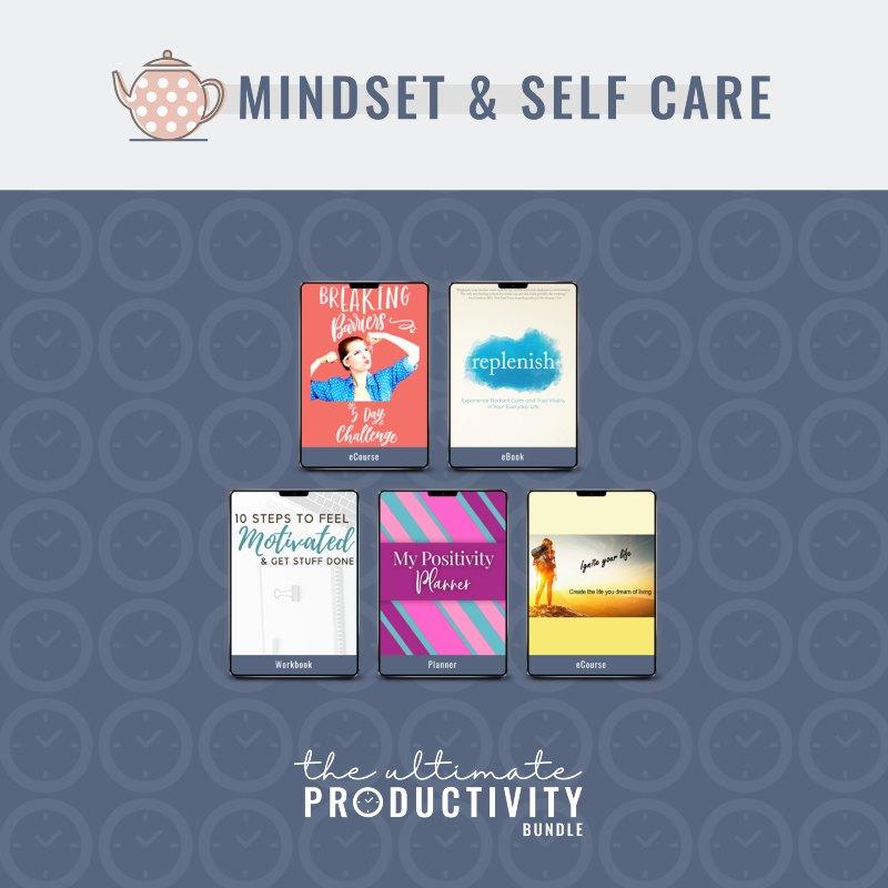 mindset and self-care productivity bundle