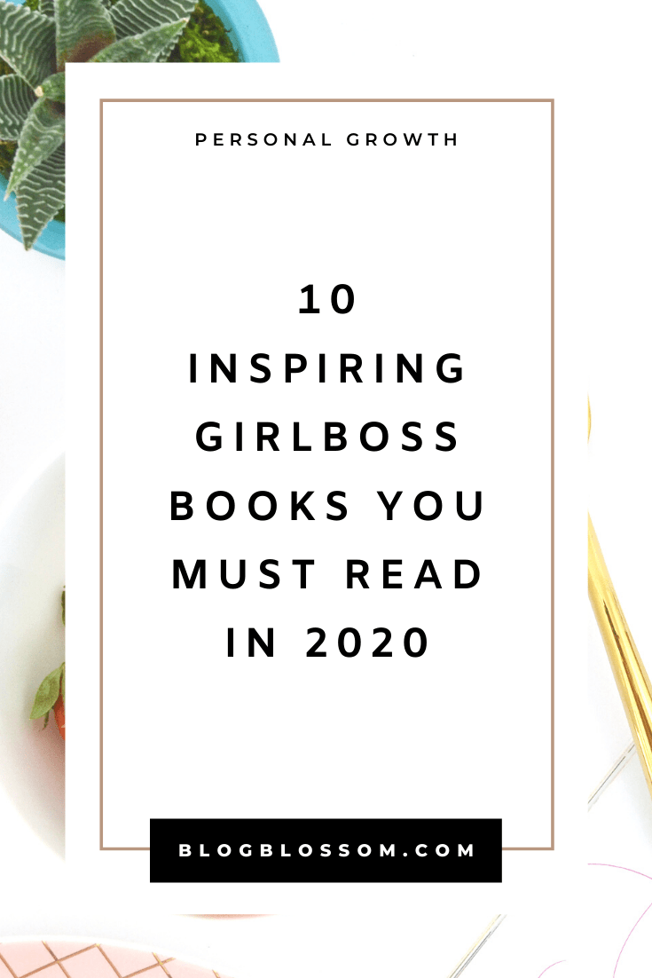 As a female entrepreneur, reading books that are written by strong and successful females is a great way to learn. If you're looking for guidance, inspiration, and motivation, these 10 books for female entrepreneurs and girlbosses will change your life. | girlboss books | motivational books | growth mindset | career tips | success tips | inspirational books | mental health | business tips | personal development | self transformational books | books to transform your life | self-care | goal setting | productivity | healthy habits | healthy lifestyle