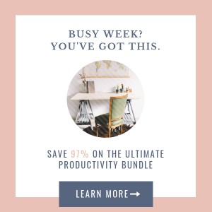 ultimate productivity bundle 2019 - sidebar