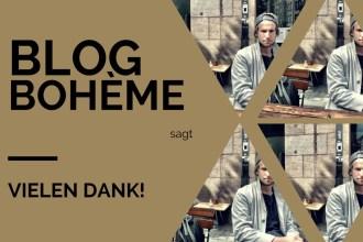 Blog Bohème sagt Vielen Dank