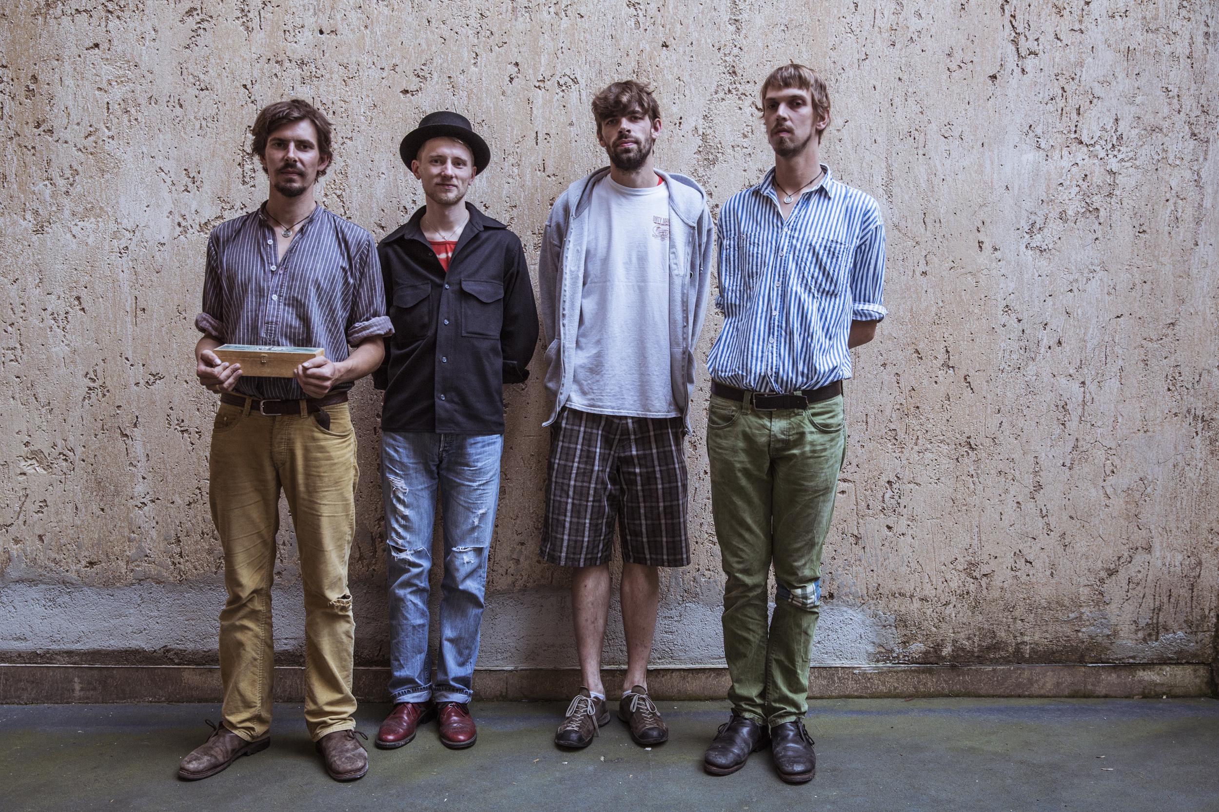 Habe die Ehre: die Band Kofelgschroa mit Maxi Pongratz (ganz rechts) © Jonas Kraus
