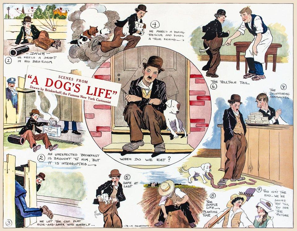 """""""A Dog's Life"""" (1918) als Comic Strip. Copyright: (c) Roy Export Company Establishment"""