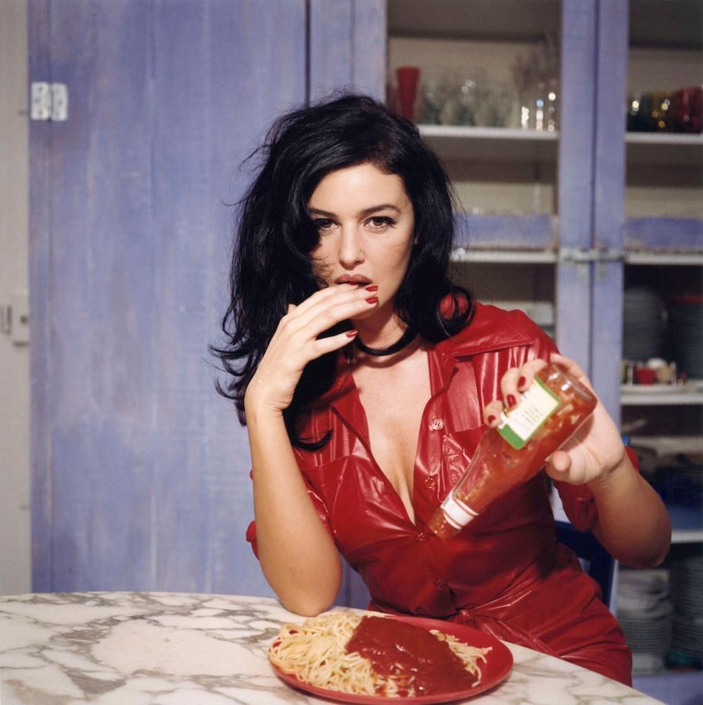 Breakfast with Monica Bellucci, November 1995, Paris ©Bettina Rheims
