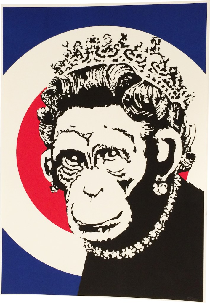 Banksy Monkey Queen
