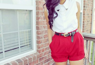 ebg45z-l-610x610-shirt-red-clothes-shorts-belt-sleeveless-button-summer-summer+pants-dressy-cinched-black-white-gold-blouse-tumblr-tumblr+girl-direction-fashion-collared+shirts-girl