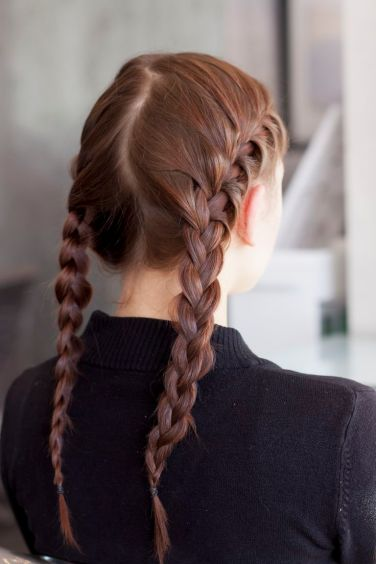 DIY braiding process; Refinery 29 photo shoot