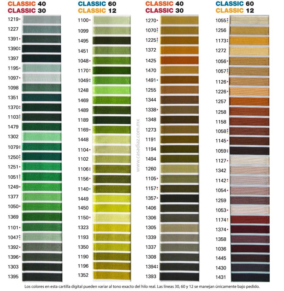 Carta de Colores Classic