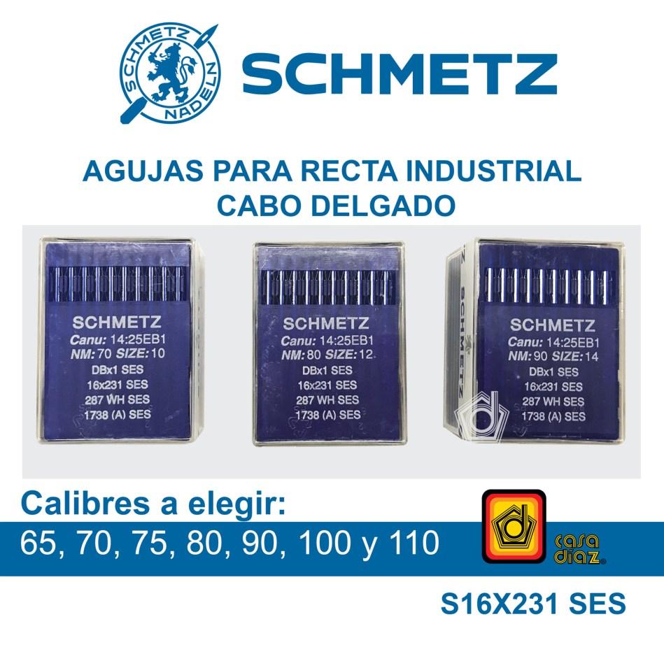 Aguja Schmetz para Máquina de Coser Recta Industrial