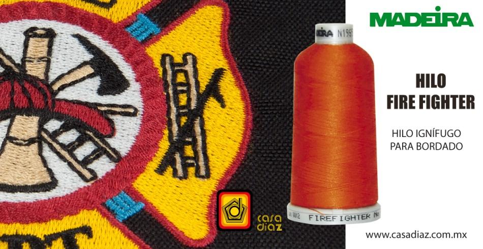 Hilo Fire Figther para bordado industrial, uniformes