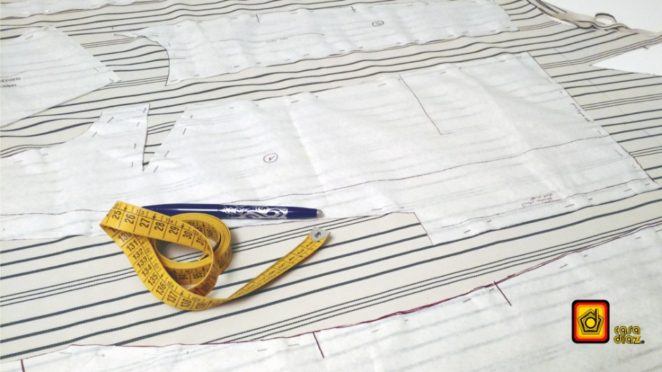 acomodo de patrones en tendido de tela
