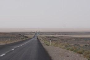 Lange lange Geraden Richtung Shiraz