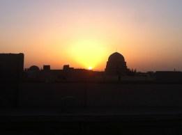 Sonnenuntergang in Yazd
