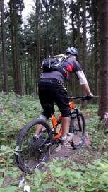 Andi auf dem Trail mit dem MT500