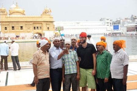 Selfie Zeit am Golden Temple