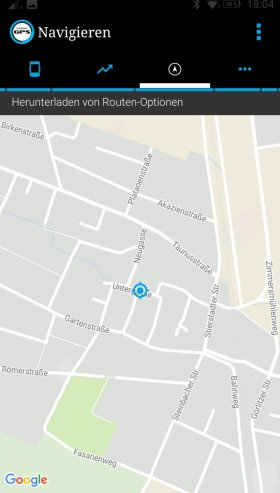 Routenplanung per Ally V2 App