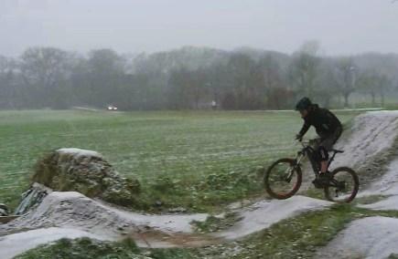 bei fettem Schneefall macht es gleich doppelt Spaß