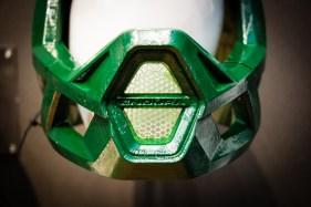 Prototyp des neuen Endura Fullfacehelms - Koroyd wird auch im Kinnbügel verwendet
