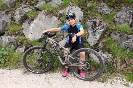 Biken in der Zugspitz Arena - Tanja