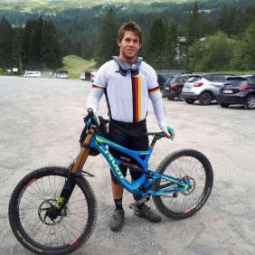 Glücklich an Nick Willner nach Abschluss des Weltcups in der Lenzerheide