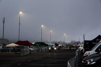 Am Abend zog erst ein wenig Nebel auf...