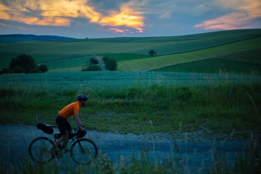 Radfahren und Sonnenuntergang - einfach episch!