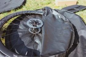 Mitgelieferte Laufradtasche des B&W Bike Bag II
