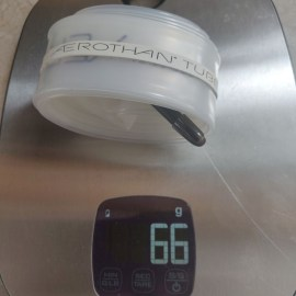 Lediglich 66 Gramm wiegt der Aerothan Schlauch