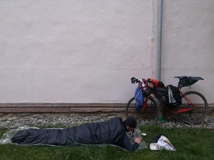 Den Schlafplatz mussten sich die Teilnehmer selbst suchen