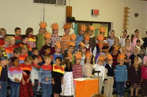 Students dressed up for Thanksgiving